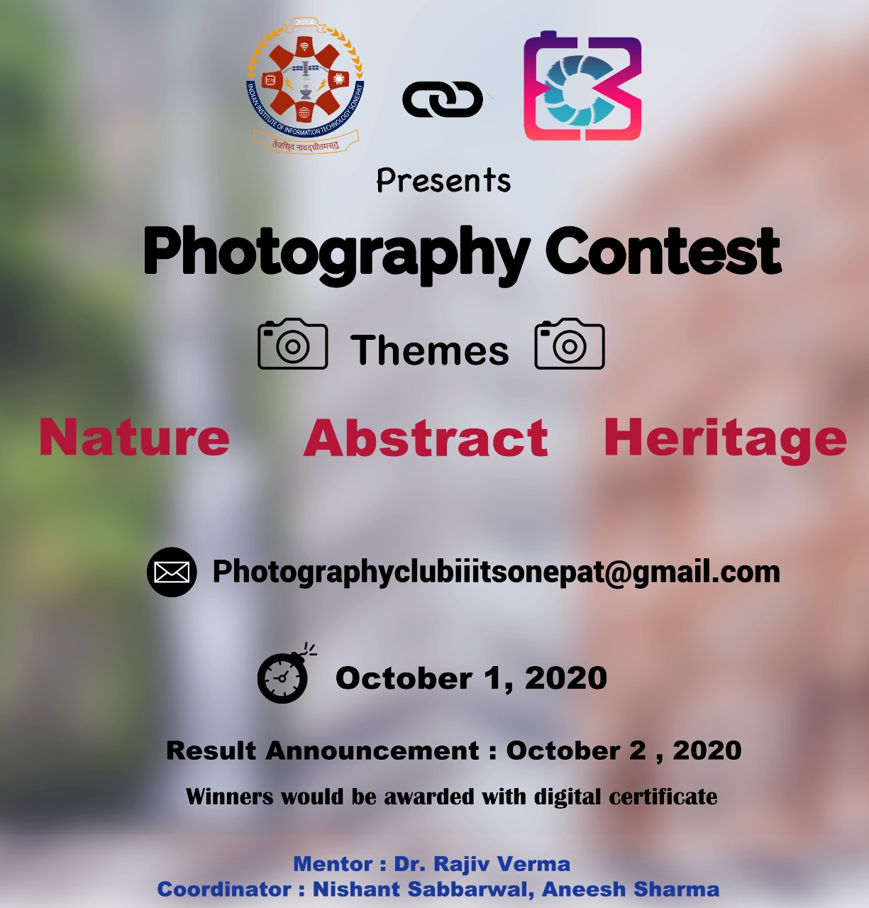 Photography Contest Notification